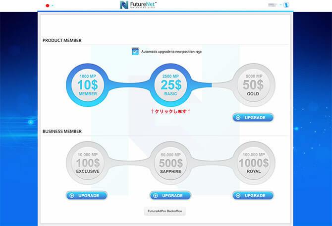 FutureNet:自分のツリー(組織)を確認する2
