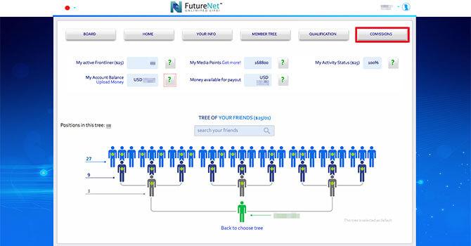 FutureNet:報酬を出金する方法1