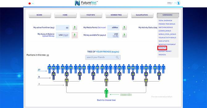 FutureNet:報酬を出金する方法2