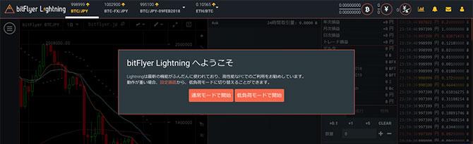 bitFlyer Lightning:アラート
